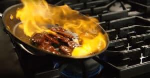 Sherry-Flambéed Chorizo in Salt-Roasted Baby Potatoes